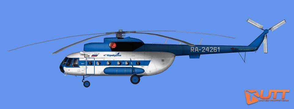 AEROBRATSK AI Heli MI-8T RA-24261,RA-25556