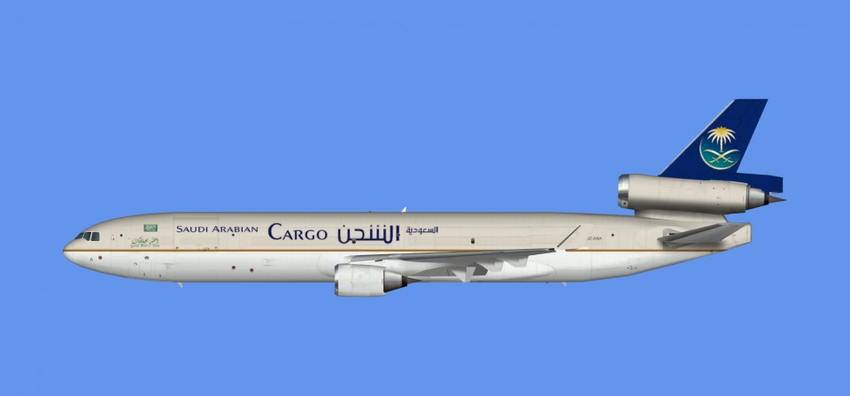 Saudi Arabian Airlines Cargo McDonnell Douglas MD-11 (FSX,Prepar3D)