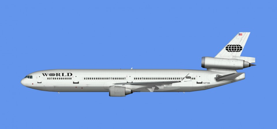 World Airways McDonnell Douglas MD-11 (FSX,Prepar3D)