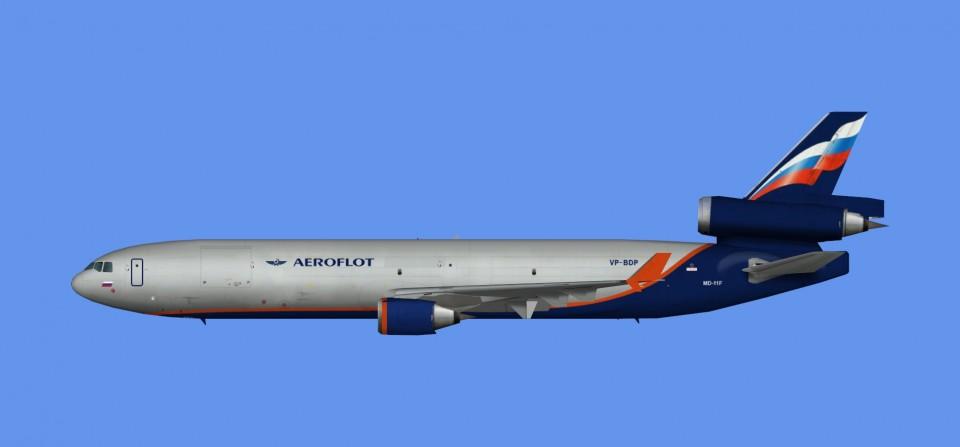 Aeroflot McDonnell Douglas MD-11 (FSX,Prepar3D)