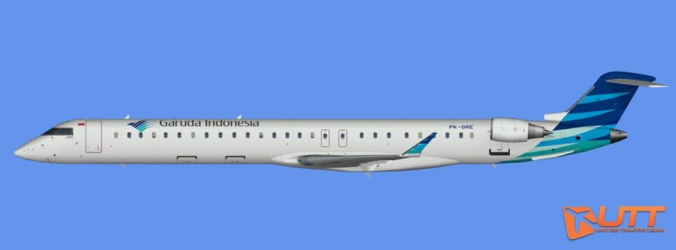 Garuda Indonesia CRJ-1000 representative fleet (FSX,Prepar3D)