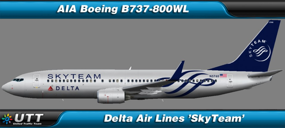 Boeing B737-800 wl Delta Air Lines 'SkyTeam'