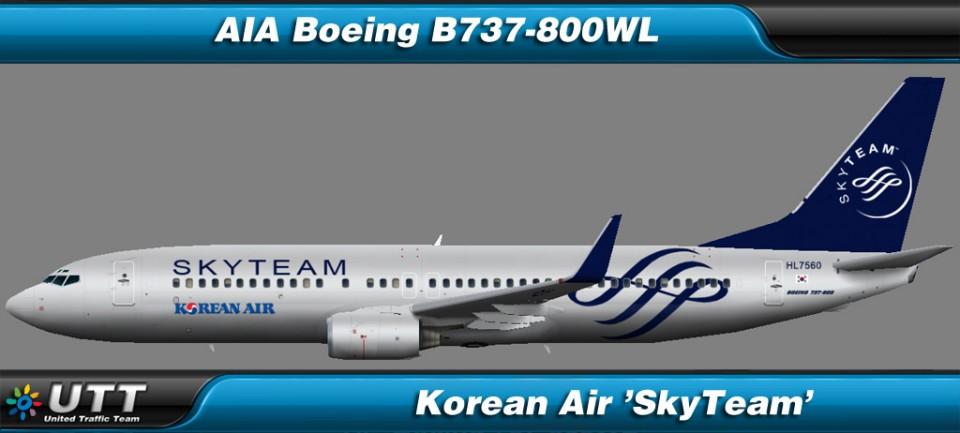 Boeing B737-800 wl Korean Air 'SkyTeam'
