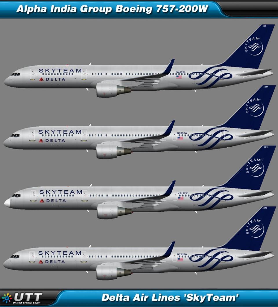 Boeing B757-200 wl Delta Air Lines 'SkyTeam'