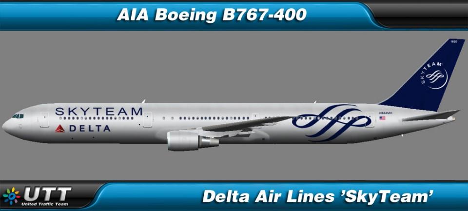 Boeing B767-400 Delta Airlines 'SkyTeam'