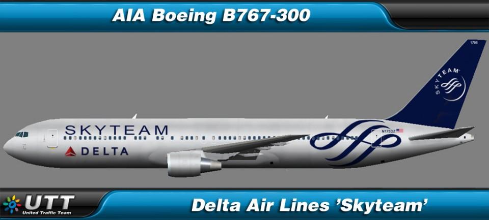 Boeing B767-300 Delta Airlines 'SkyTeam'