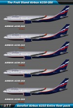 Airbus A330-200 Aeroflot (Entire fleet pack)