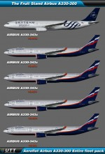 Airbus A330-300 Aeroflot (Entire fleet pack)