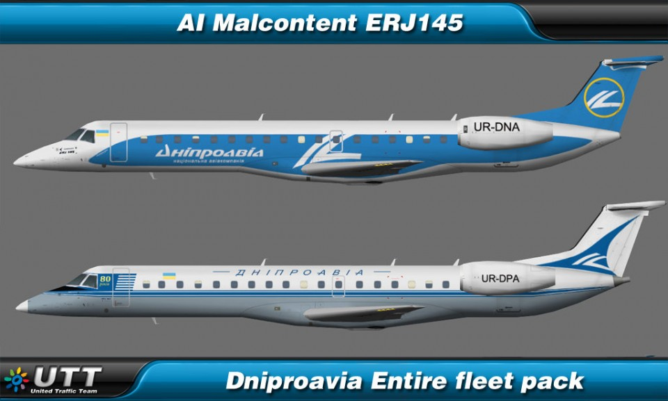 Embraer ERJ145 Dniproavia (Entire fleet pack)