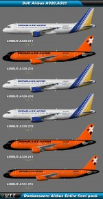Airbus A320,A321 Donbassaero (Entire fleet pack)
