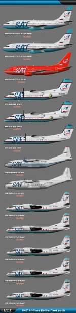 SAT Airlines (Entire fleet pack)
