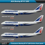 Boeing B747-200 Transaero (Entire fleet pack)