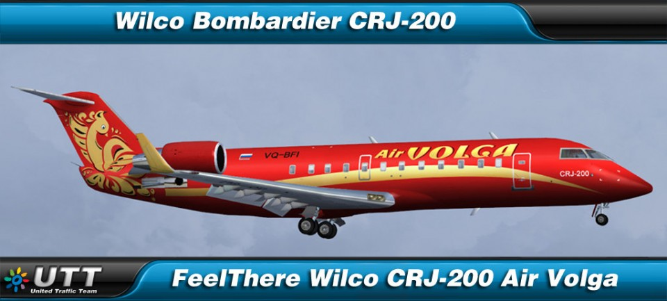 Bombardier CRJ-200 Air Volga Red