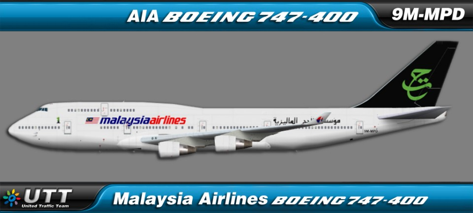 Malaysia Airlines Boeing 747-400 Hajj colors