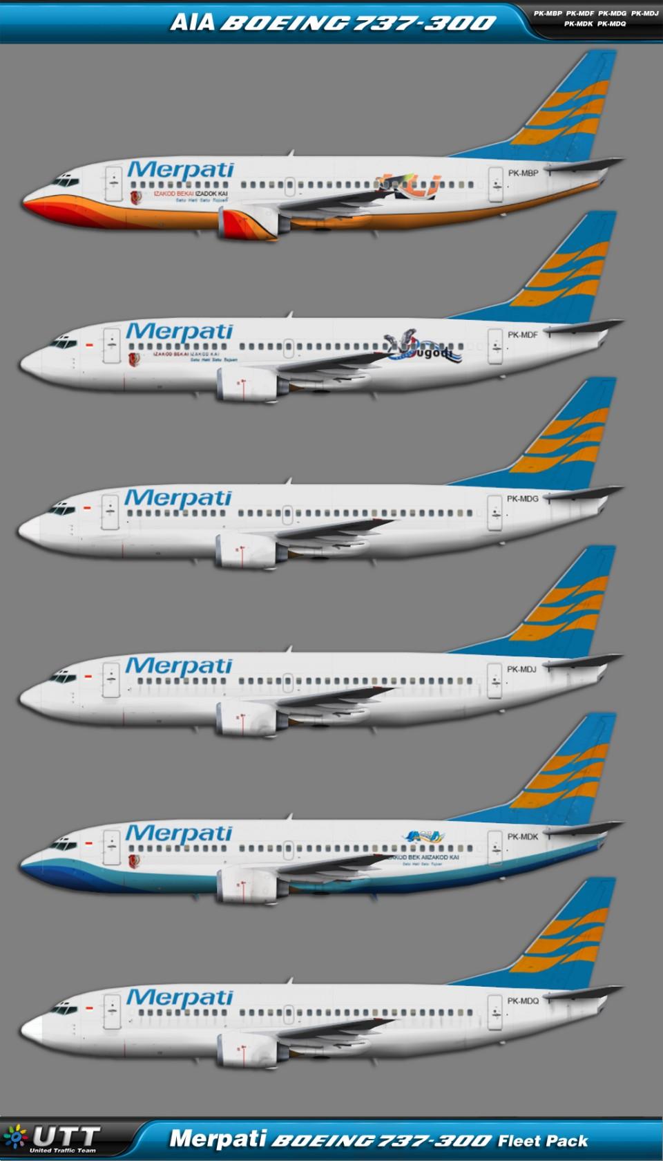 Merpati Boeing 737-300 fleet