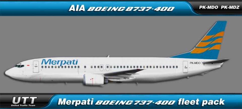 Merpati Boeing 737-400 fleet