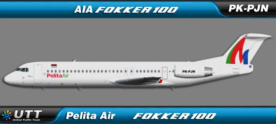 Pelita Air Fokker 100 PK-PJN