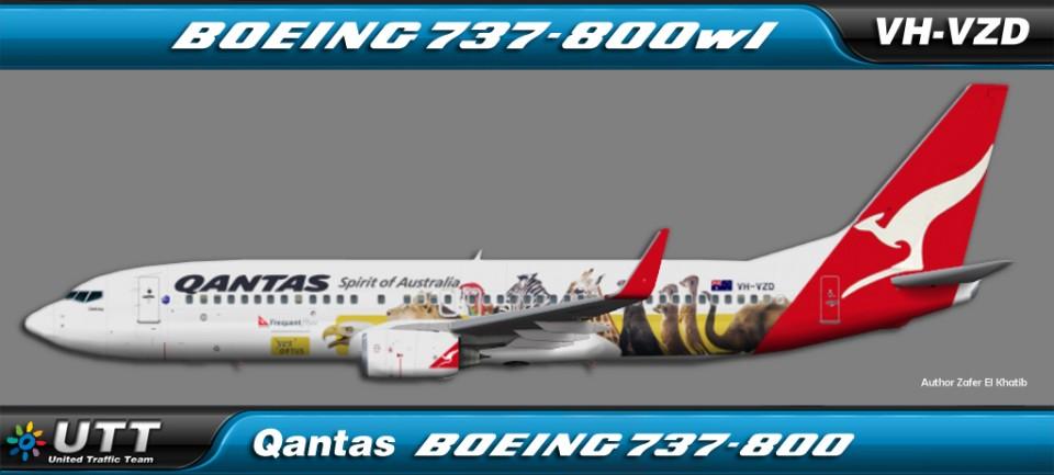 Qantas Boeing 737-800wl VH-VZD