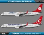 Turkish Airlines Boeing 737-800w TC-JGA TC-JFU
