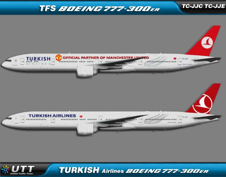 Turkish Airlines Boeing 777-300ER TC-JJC & TC-JJE