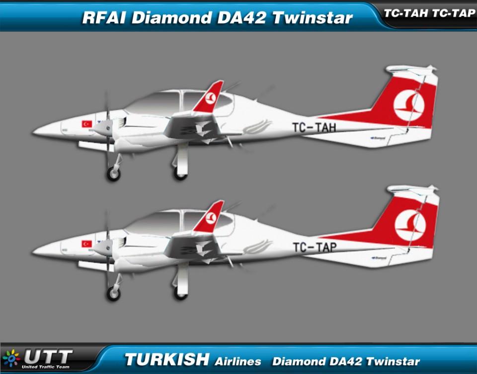 Turkish Airlines Flight Academy Dimond Twinstar fleet