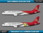 Shenzhen Airlines Airbus A320-200 B-6313 & B-6565