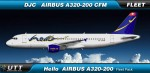 Hello Airline Airbus A320-200 fleet