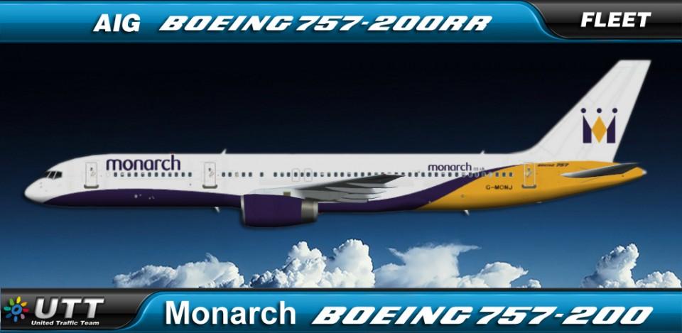 Monarch Airlines Boeing 757-200 fleet