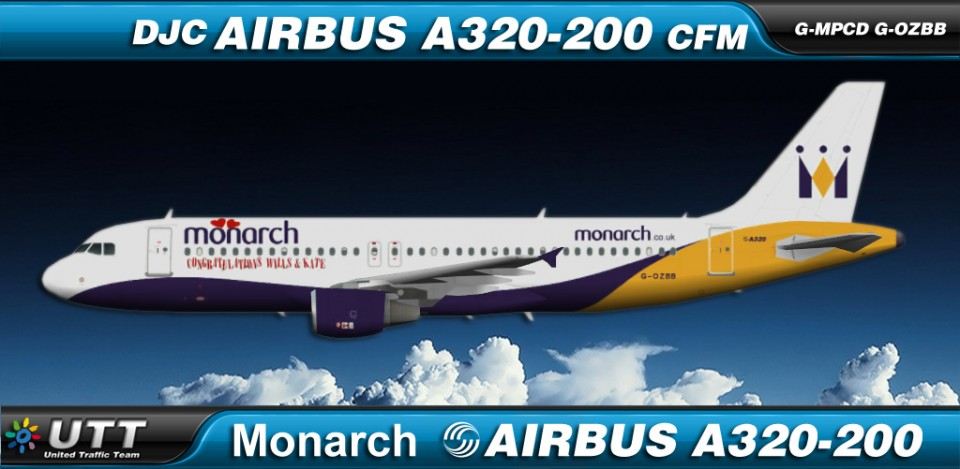 Monarch Airlines Airbus A320-200 fleet