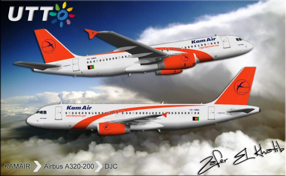 Kamair Airbus A320-200 YA-KMA