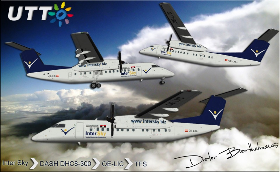 Intersky Dash DHC-8-300 OE-LIC