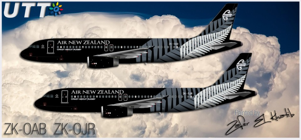 Air New Zealand Airbus A320-200 ZK-OAB & ZK-OJR