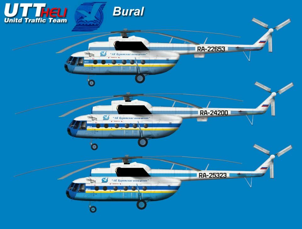 Burat Avia AI Helicopters Mi-8T