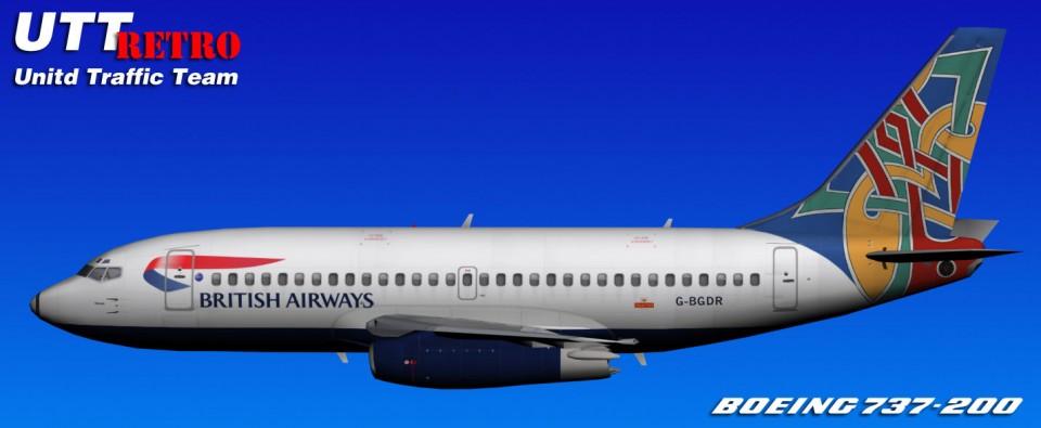 British Airways UTT Boeing 737-200 (G-BGDR) Retro
