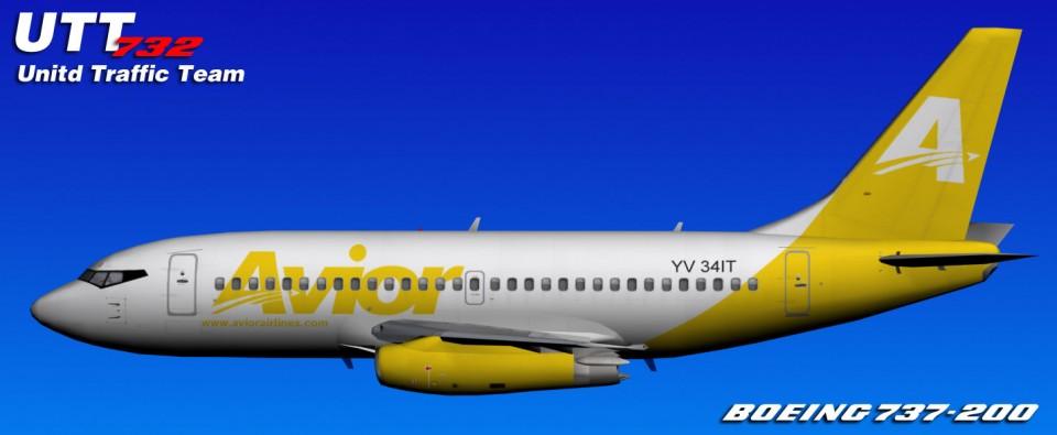 Avior UTT Boeing 737-200 (YV34IT) Yellow