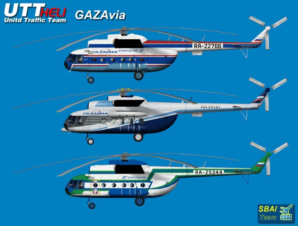 GAZAvia AI Helicopters Mi-8T