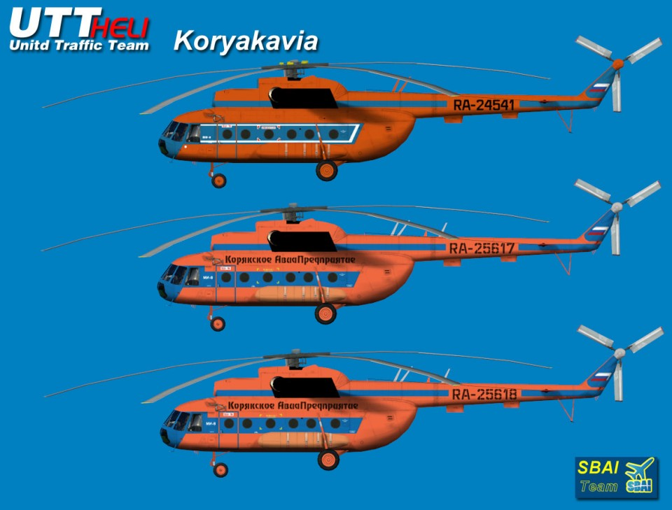 Koryakavia AI Helicopters Mi-8T