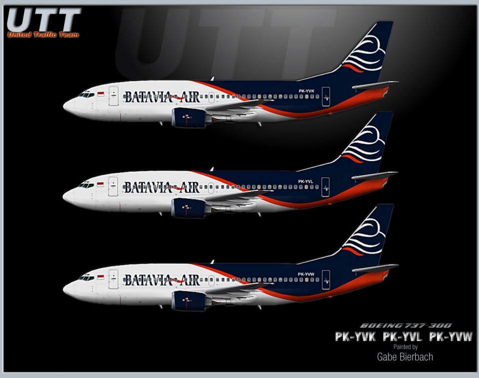 Batavia Air Boeing 737-400 PK-YTE PK-YVN PK-YVS
