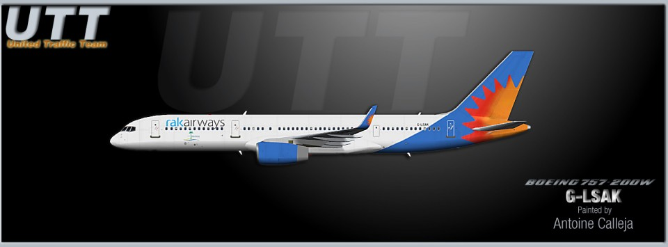 Rak Airways Boeing 757-200w G-LSAK (Jet2 Holidays hybrid)