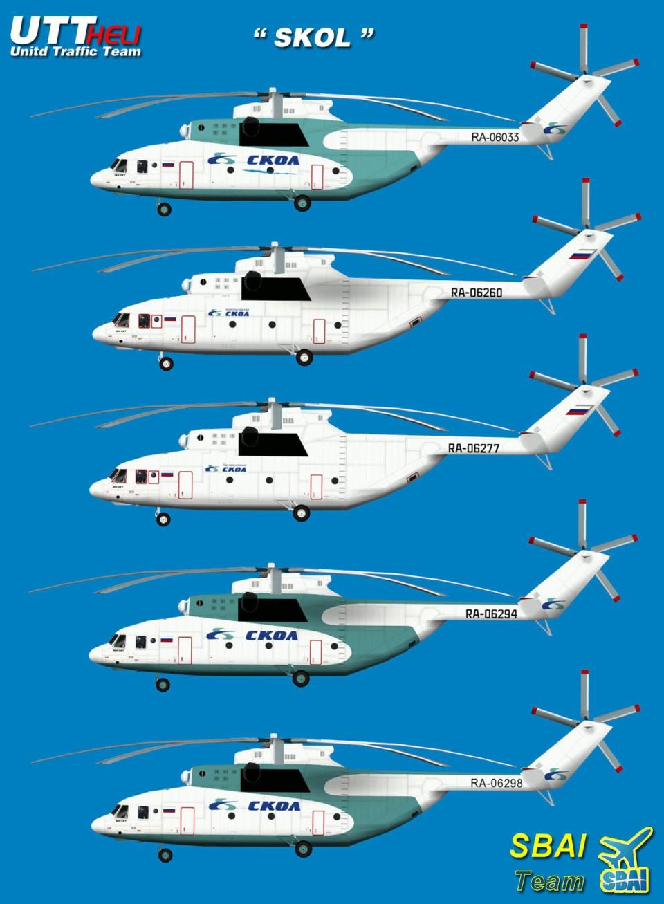 SBAI AI Helicopters Mi-26 SKOL