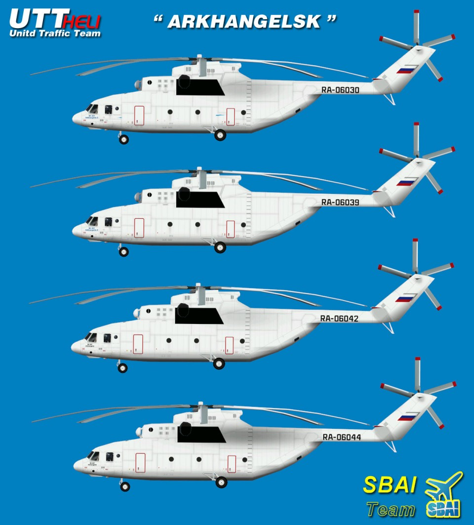 SBAI AI Helicopters Mi-26 ARKHANGELSK