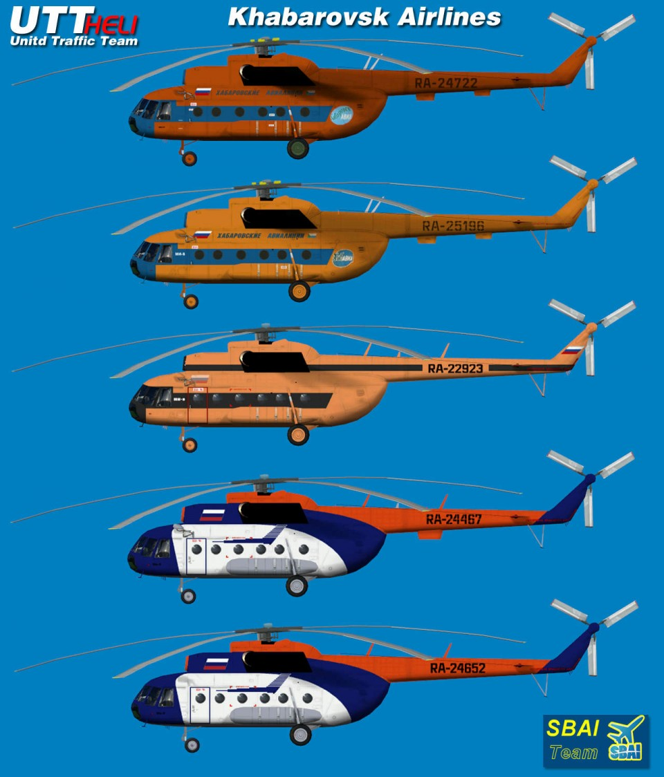 Khabarovsk Airlines AI Helicopters Mi-8T