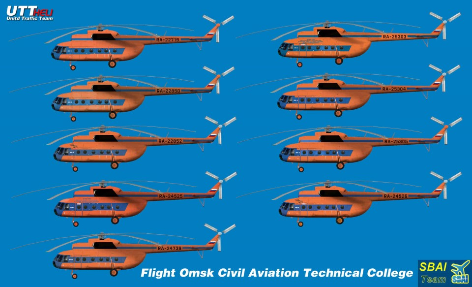 Omsk Civils Aviation Technical College AI Helicopter Mi-8T