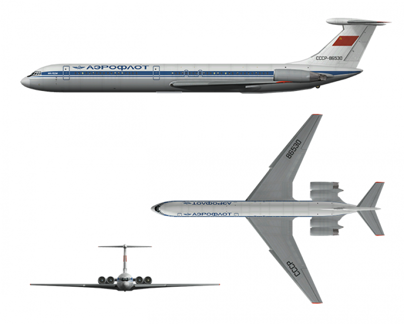 Tuo Cielo AI Ilushin IL-62 model
