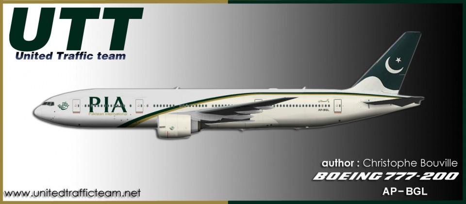 PIA Pakistan Boeing 777-200LR AP-BGL