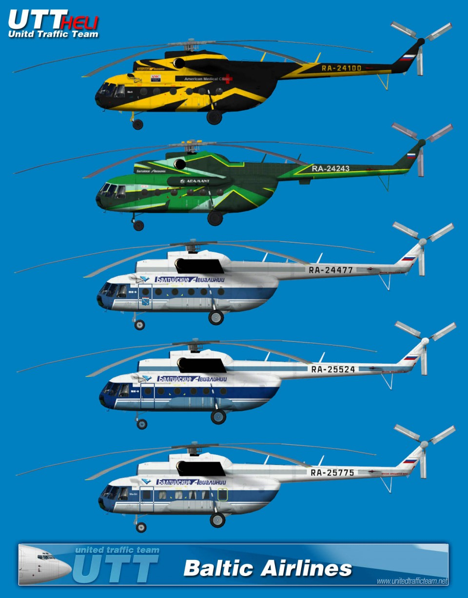 Baltic Airlines AI Helicopters Mi-8T