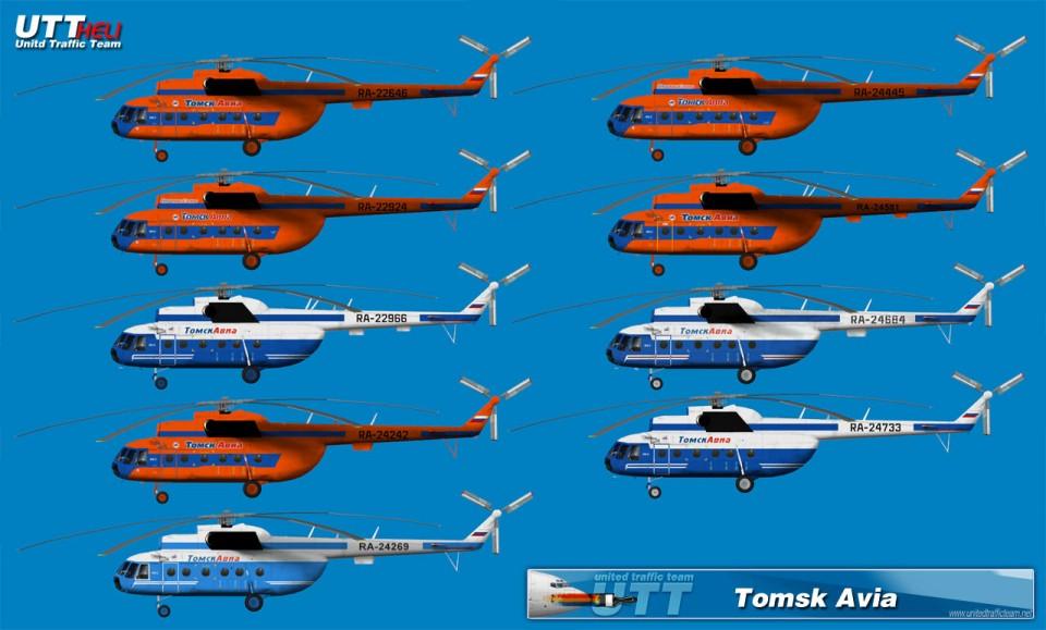 Tomsk Avia AI Helicopters Mi-8T