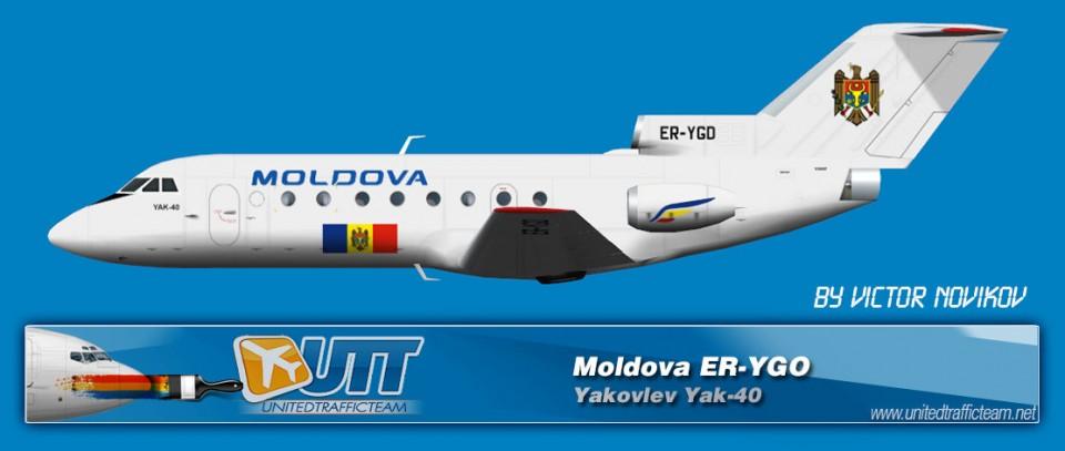 Moldova (ER-YGO) Yakovlev Yak-40