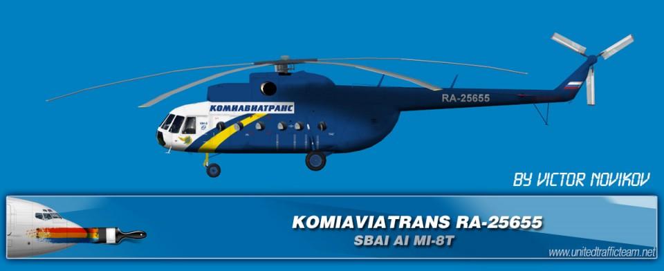 KOMIAVIATRANS RA-25655 AI Helicopters Mi-8T