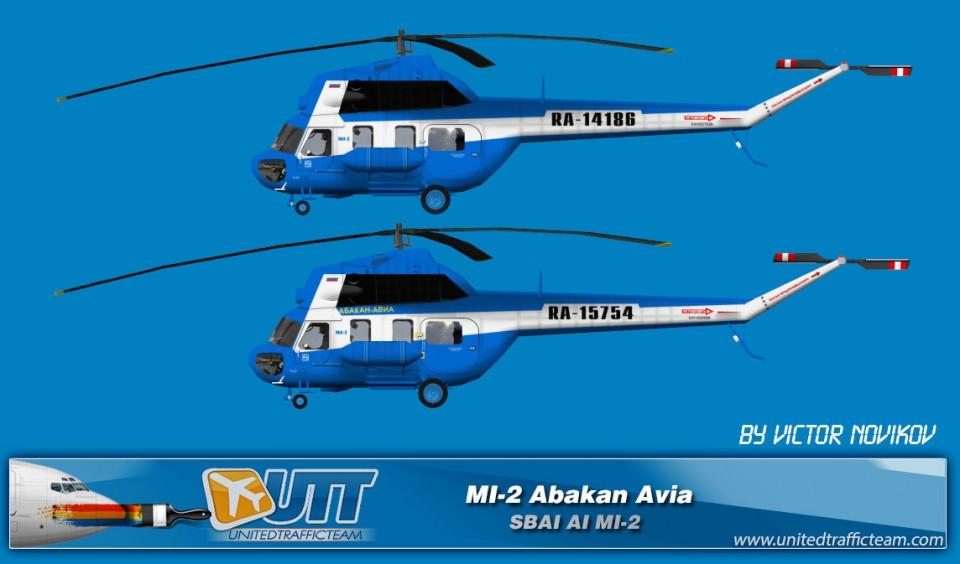 Abakan Avia AI Helicopters Mi-2